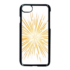Fireworks Light Yellow Space Happy New Year Apple Iphone 7 Seamless Case (black) by AnjaniArt