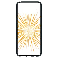 Fireworks Light Yellow Space Happy New Year Samsung Galaxy S8 Black Seamless Case by AnjaniArt