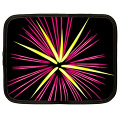 Fireworks Pink Red Yellow Black Sky Happy New Year Netbook Case (large)