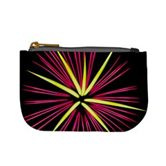 Fireworks Pink Red Yellow Black Sky Happy New Year Mini Coin Purses by AnjaniArt