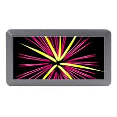 Fireworks Pink Red Yellow Black Sky Happy New Year Memory Card Reader (mini) by AnjaniArt
