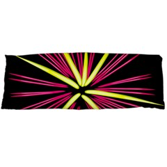 Fireworks Pink Red Yellow Black Sky Happy New Year Body Pillow Case Dakimakura (two Sides) by AnjaniArt