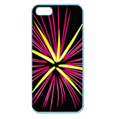 Fireworks Pink Red Yellow Black Sky Happy New Year Apple Seamless Iphone 5 Case (color)