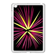 Fireworks Pink Red Yellow Black Sky Happy New Year Apple Ipad Mini Case (white)