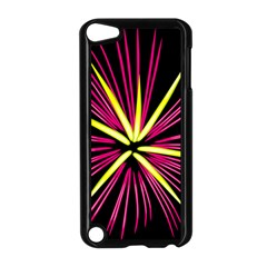 Fireworks Pink Red Yellow Black Sky Happy New Year Apple Ipod Touch 5 Case (black) by AnjaniArt