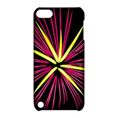 Fireworks Pink Red Yellow Black Sky Happy New Year Apple Ipod Touch 5 Hardshell Case With Stand