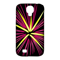 Fireworks Pink Red Yellow Black Sky Happy New Year Samsung Galaxy S4 Classic Hardshell Case (pc+silicone) by AnjaniArt