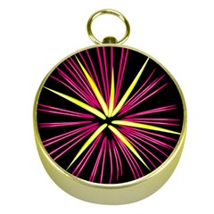 Fireworks Pink Red Yellow Black Sky Happy New Year Gold Compasses