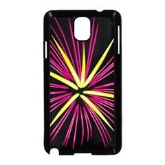 Fireworks Pink Red Yellow Black Sky Happy New Year Samsung Galaxy Note 3 Neo Hardshell Case (black) by AnjaniArt