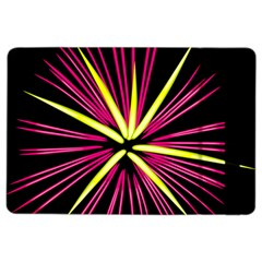Fireworks Pink Red Yellow Black Sky Happy New Year Ipad Air 2 Flip by AnjaniArt