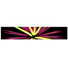 Fireworks Pink Red Yellow Black Sky Happy New Year Flano Scarf (large) by AnjaniArt