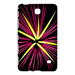Fireworks Pink Red Yellow Black Sky Happy New Year Samsung Galaxy Tab 4 (7 ) Hardshell Case  by AnjaniArt