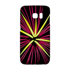 Fireworks Pink Red Yellow Black Sky Happy New Year Galaxy S6 Edge by AnjaniArt