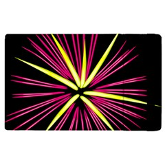 Fireworks Pink Red Yellow Black Sky Happy New Year Apple Ipad Pro 9 7   Flip Case by AnjaniArt