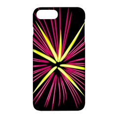 Fireworks Pink Red Yellow Black Sky Happy New Year Apple Iphone 7 Plus Hardshell Case