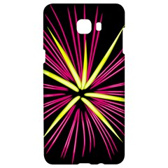 Fireworks Pink Red Yellow Black Sky Happy New Year Samsung C9 Pro Hardshell Case