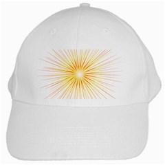 Fireworks Light Yellow Space Happy New Year Red White Cap by AnjaniArt