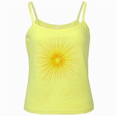 Fireworks Light Yellow Space Happy New Year Red Yellow Spaghetti Tank by AnjaniArt