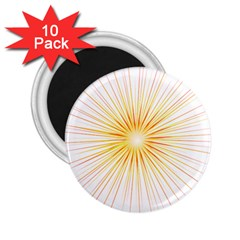 Fireworks Light Yellow Space Happy New Year Red 2 25  Magnets (10 Pack)  by AnjaniArt