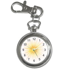 Fireworks Light Yellow Space Happy New Year Red Key Chain Watches by AnjaniArt