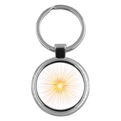 Fireworks Light Yellow Space Happy New Year Red Key Chains (round)