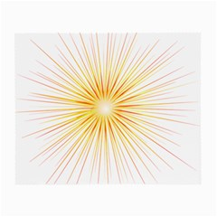 Fireworks Light Yellow Space Happy New Year Red Small Glasses Cloth by AnjaniArt
