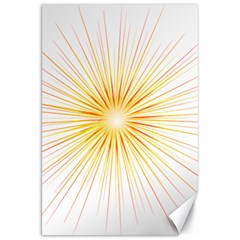 Fireworks Light Yellow Space Happy New Year Red Canvas 20  X 30
