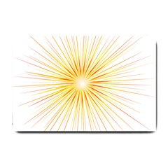 Fireworks Light Yellow Space Happy New Year Red Small Doormat