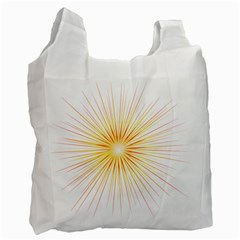 Fireworks Light Yellow Space Happy New Year Red Recycle Bag (one Side) by AnjaniArt