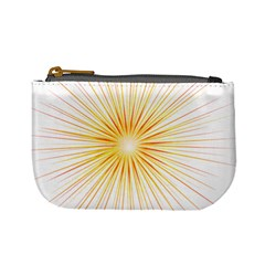 Fireworks Light Yellow Space Happy New Year Red Mini Coin Purses