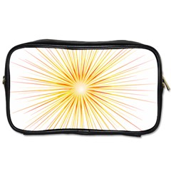 Fireworks Light Yellow Space Happy New Year Red Toiletries Bags 2 Side
