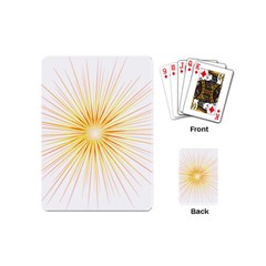 Fireworks Light Yellow Space Happy New Year Red Playing Cards (mini)  by AnjaniArt