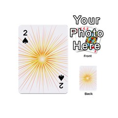 Fireworks Light Yellow Space Happy New Year Red Playing Cards 54 (mini)  by AnjaniArt