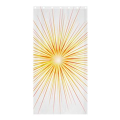 Fireworks Light Yellow Space Happy New Year Red Shower Curtain 36  X 72  (stall)  by AnjaniArt