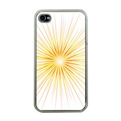 Fireworks Light Yellow Space Happy New Year Red Apple Iphone 4 Case (clear) by AnjaniArt