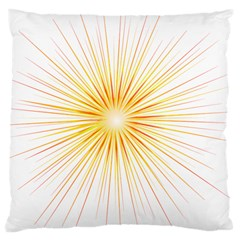 Fireworks Light Yellow Space Happy New Year Red Large Cushion Case (one Side)