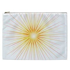 Fireworks Light Yellow Space Happy New Year Red Cosmetic Bag (xxl)  by AnjaniArt