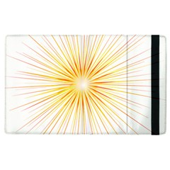 Fireworks Light Yellow Space Happy New Year Red Apple Ipad 3/4 Flip Case