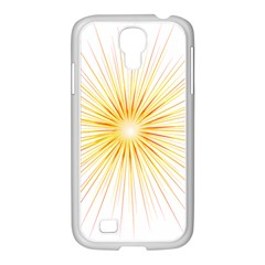 Fireworks Light Yellow Space Happy New Year Red Samsung Galaxy S4 I9500/ I9505 Case (white) by AnjaniArt