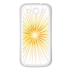Fireworks Light Yellow Space Happy New Year Red Samsung Galaxy S3 Back Case (white)