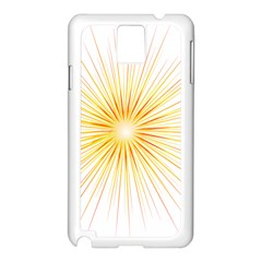 Fireworks Light Yellow Space Happy New Year Red Samsung Galaxy Note 3 N9005 Case (white)