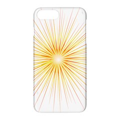 Fireworks Light Yellow Space Happy New Year Red Apple Iphone 7 Plus Hardshell Case by AnjaniArt