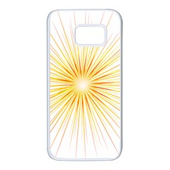 Fireworks Light Yellow Space Happy New Year Red Samsung Galaxy S7 White Seamless Case by AnjaniArt