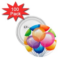 Birthday Happy New Year Balloons Rainbow 1 75  Buttons (100 Pack)  by AnjaniArt