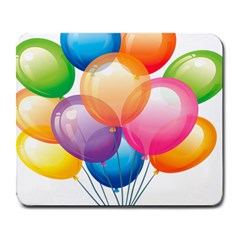 Birthday Happy New Year Balloons Rainbow Large Mousepads by AnjaniArt