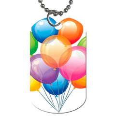 Birthday Happy New Year Balloons Rainbow Dog Tag (one Side) by AnjaniArt