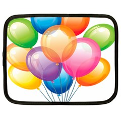 Birthday Happy New Year Balloons Rainbow Netbook Case (large) by AnjaniArt
