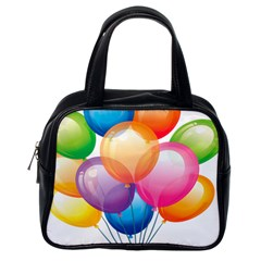 Birthday Happy New Year Balloons Rainbow Classic Handbags (one Side) by AnjaniArt