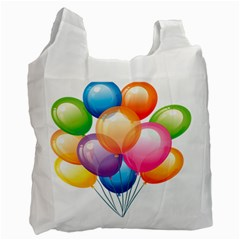 Birthday Happy New Year Balloons Rainbow Recycle Bag (two Side)