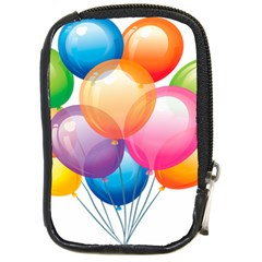 Birthday Happy New Year Balloons Rainbow Compact Camera Cases by AnjaniArt